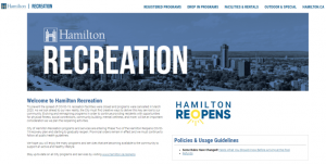 City of Hamilton Web Page