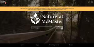 Nature At McMaster Web Link