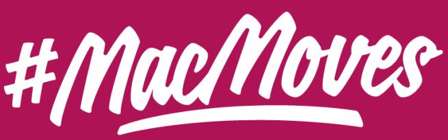 MacMoves Logo Maroon Background